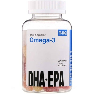 Omega-3, DHA + EPA, Lemon, Orange, Strawberry, 60 Gummies