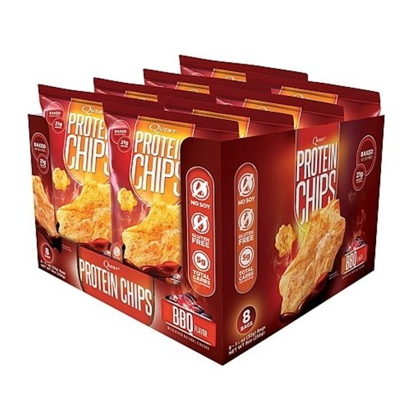 Quest Nutrition, Protein Chips, BBQ Flavor, 8 Bags, 1 1/8 oz (32 g) Each (Discontinued Item)