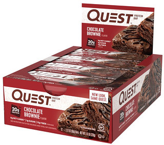 Quest Nutrition, QuestBar, Barre Protéiné, Chocolat Brownie, 12 Barres, 2.1 oz (60 g) chacune