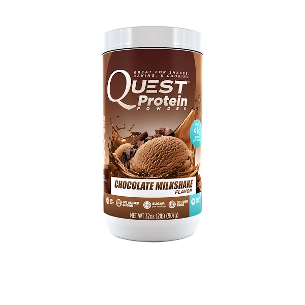 Quest Nutrition, Protein Powder, Chocolate Milkshake, 32 oz (907 g) (Discontinued Item)