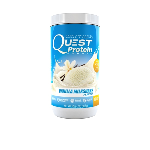 Quest Nutrition, Protein Powder, Vanilla Milkshake, 32 oz (907 g) (Discontinued Item)