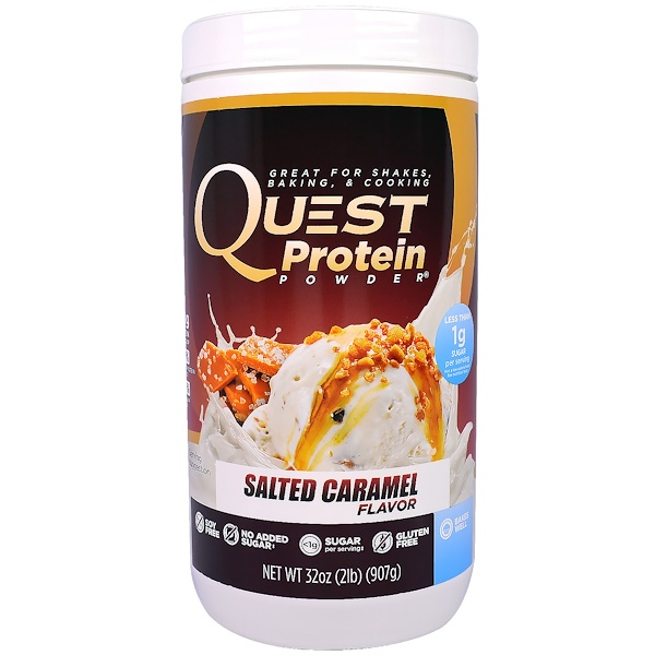 Quest Nutrition, Protein Powder, Salt Caramel, 32 oz (907 g) (Discontinued Item)