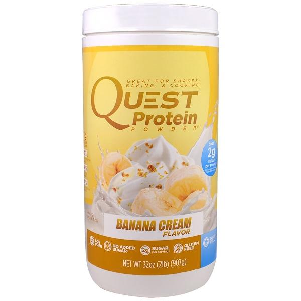 Quest Nutrition, Protein Powder, Banana Cream, 32 oz (907 g) (Discontinued Item)