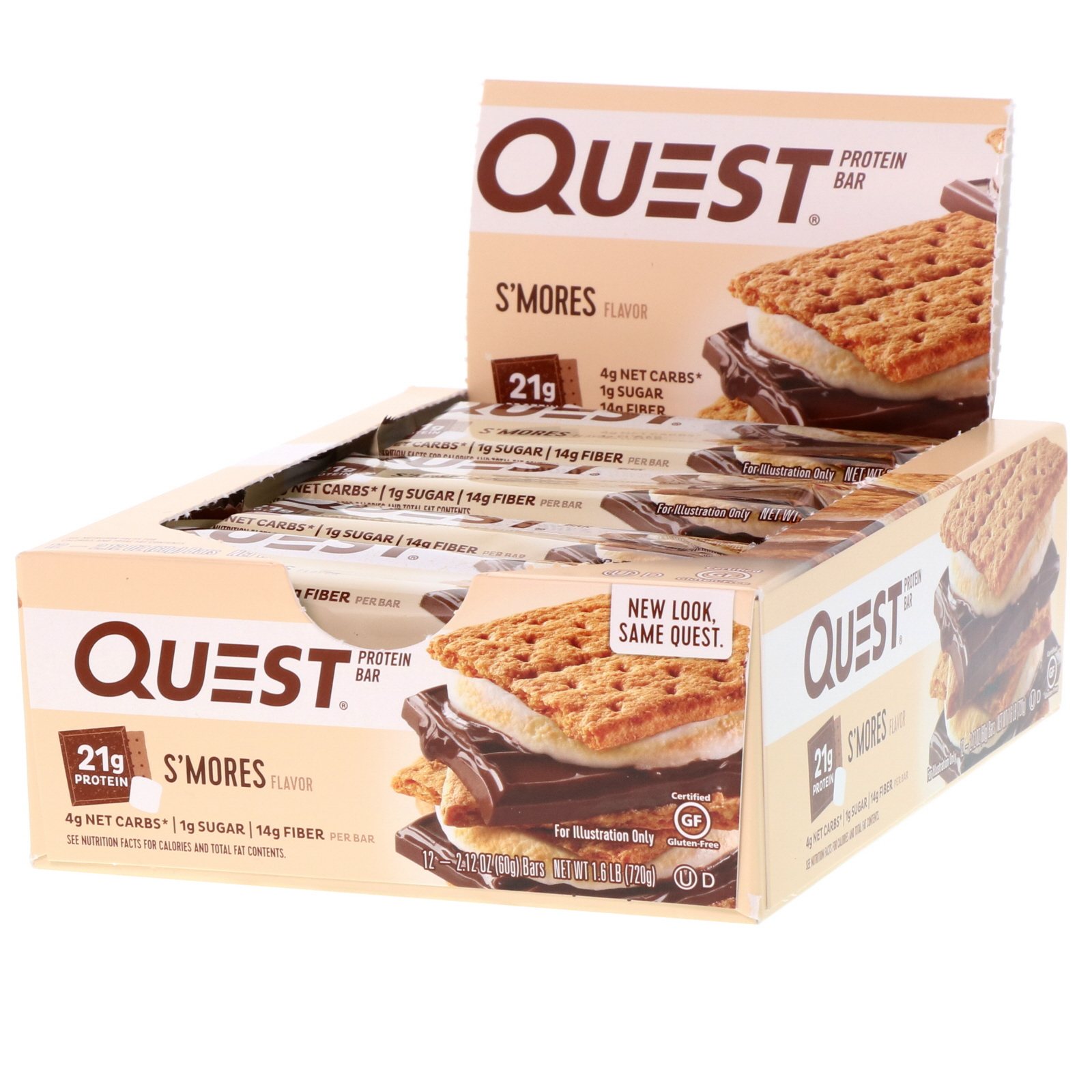 Quest Nutrition, Protein Bar, S'mores, 12 Bars, 2 12 (60 g