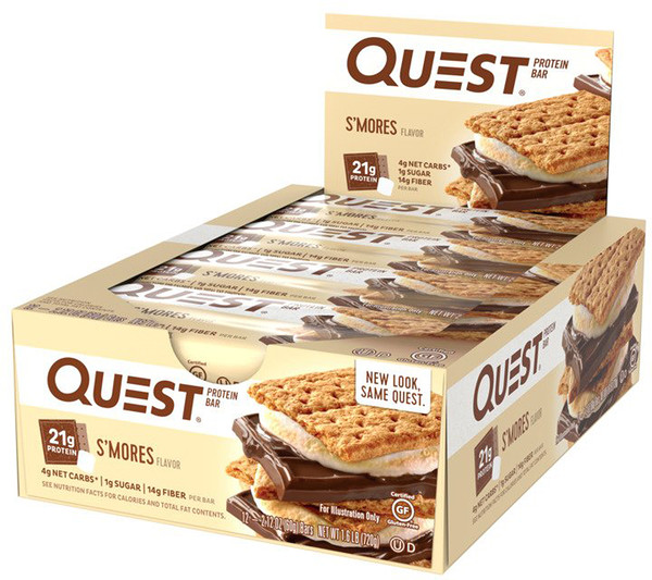 Quest Nutrition, Protein Bar, S'mores Flavor, 12 Bars, 2、12 (60 g) Each