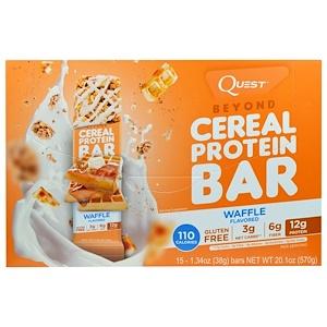 Квэст Нутритион, Beyond Cereal Protein Bar, Waffle, 15 Bars, 1.34 oz (38 g) Each отзывы