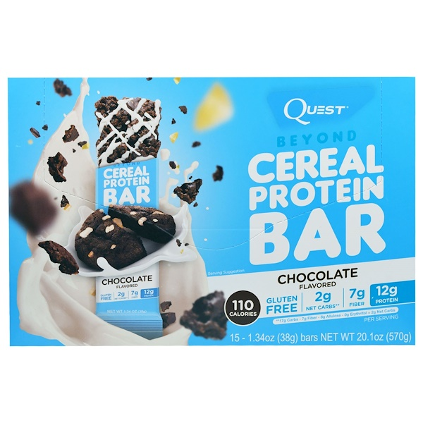 Quest Nutrition, Beyond Cereal Protein Bar, Chocolate, 15 Bars, 1.34 oz (38 g) Each (Discontinued Item)
