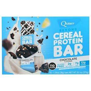 Квэст Нутритион, Beyond Cereal Protein Bar, Chocolate, 15 Bars, 1.34 oz (38 g) Each отзывы покупателей
