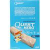 Quest Nutrition, ヒーロープロテインバー、バニラキャラメル、10本、各2.12オンス (60g)