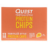 Quest Nutrition, Tortilla Style Protein Chips, Nacho Cheese, 8 Bags, 1.1 oz (32 g ) Each