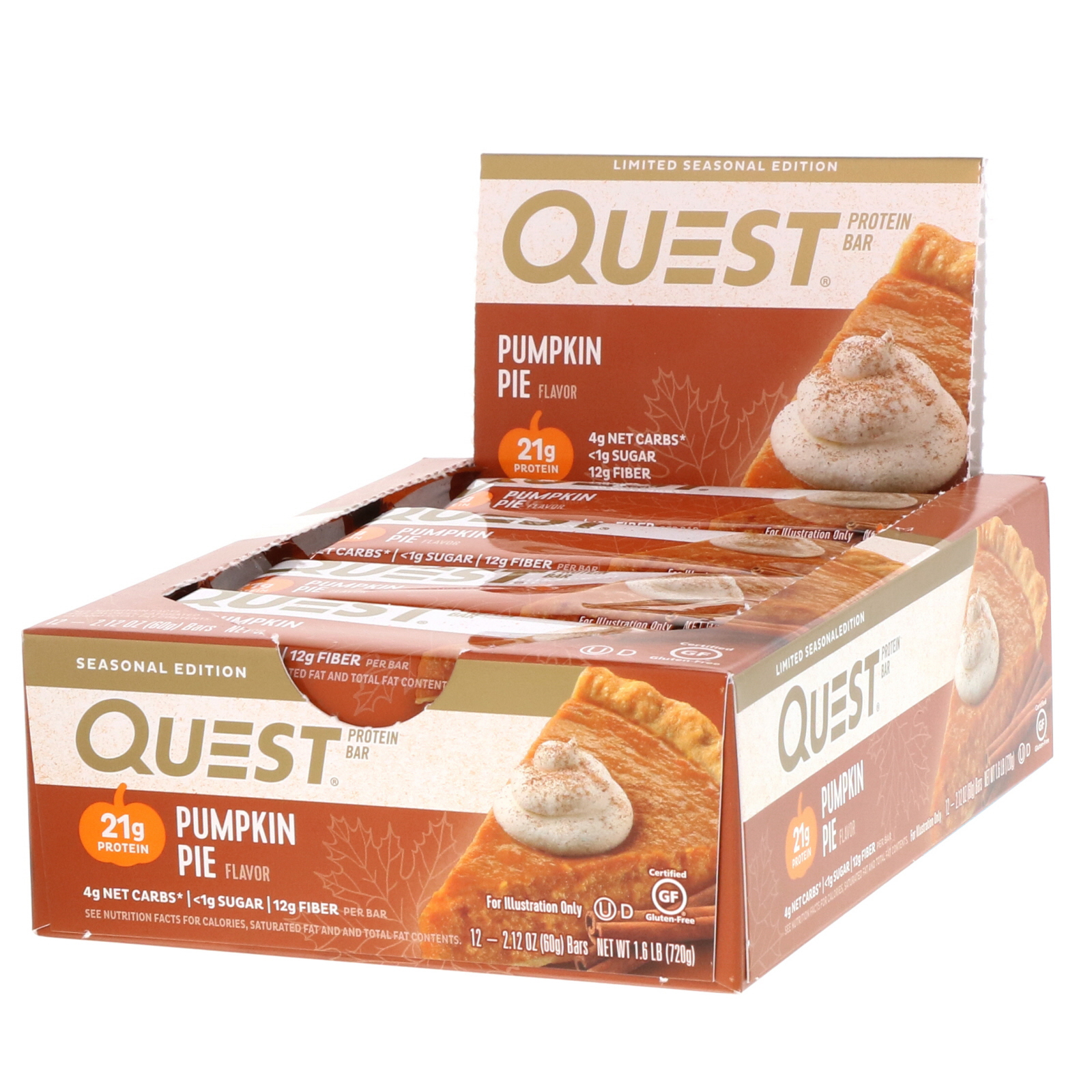 Quest Nutrition, Protein Bar, Pumpkin