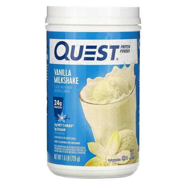 Protein Powder, Vanilla Milkshake, 1.6 lb (726 g)
