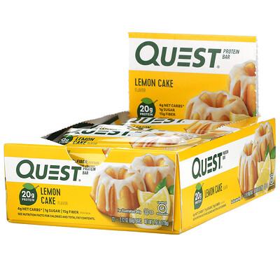 Quest Nutrition Protein Bar, Lemon Cake, 12 Bars, 2.12 oz (60 g) Each