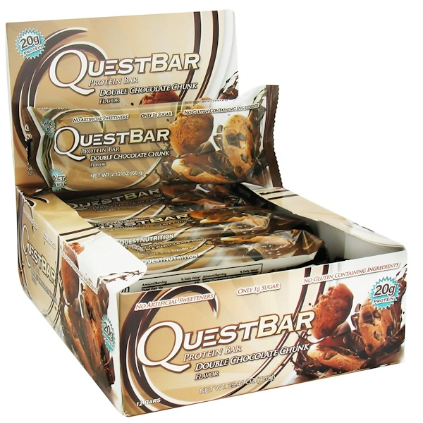 Quest Nutrition, Protein Bar, Double Chocolate Chunk, 12 Bars, 2.12 oz (60 g) Each (Discontinued Item)