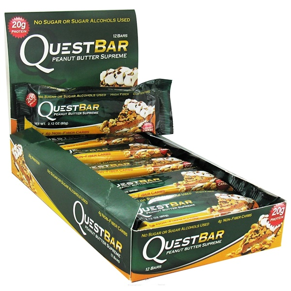 Quest Nutrition, Quest Protein Bar, Peanut Butter Supreme, 12 Bars, 2.12 oz (60 g) Each (Discontinued Item)
