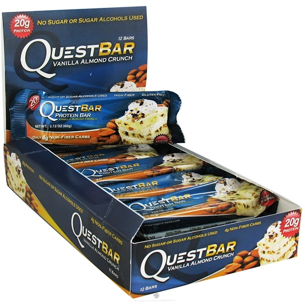 Quest Nutrition, Quest Protein Bar, Vanilla Almond Crunch, 12 Bars, 2.12 oz (60 g) Each (Discontinued Item)