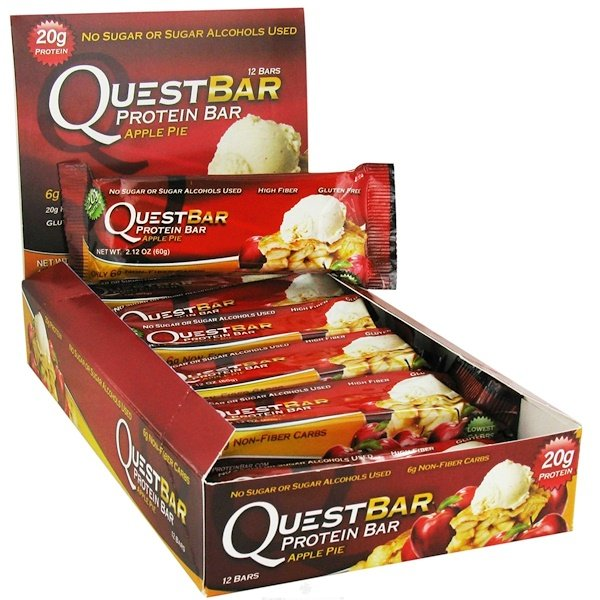 Quest Nutrition, Protein Bar, Apple Pie, 12 Bars, 2.12 oz (60 g) Each (Discontinued Item)