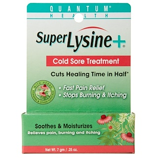 Quantum Health, Super Lysine + Cold Sore Treatment, .25 oz (7 g)