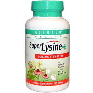 Quantum Health, Super Lysine+, Immune System, 180 Tablets