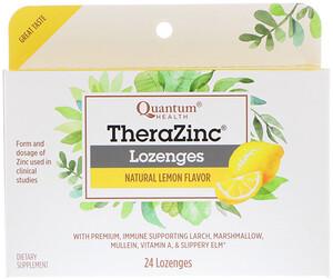 Кванту Хелс, TheraZinc Lozenges, Natural Lemon Flavor, 24 Lozenges отзывы