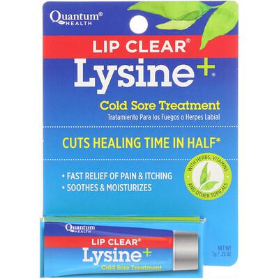 Чистые губы, лизин +, устранение боли на губах, 0,25 унции (7 г)