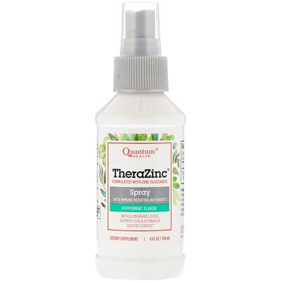 Купить Quantum Health Спрей «Тера цинк» с питательными веществами для укрепления иммунной системы с ароматом перечной мяты и гвоздики, 4 жидких унции (120 мл)