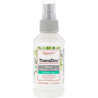 Quantum Health, Thera Zinc Spray、エキナセア、エルダーベリー、ペパーミント・クローブ味、 4 fl oz (120 ml)