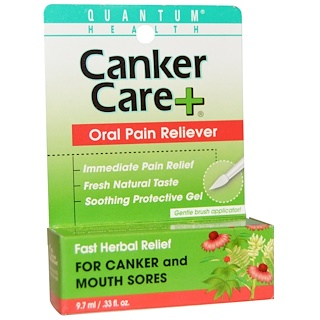 Quantum Health, Canker Care+, Oral Pain Reliever, .33 fl oz (9.7 ml)