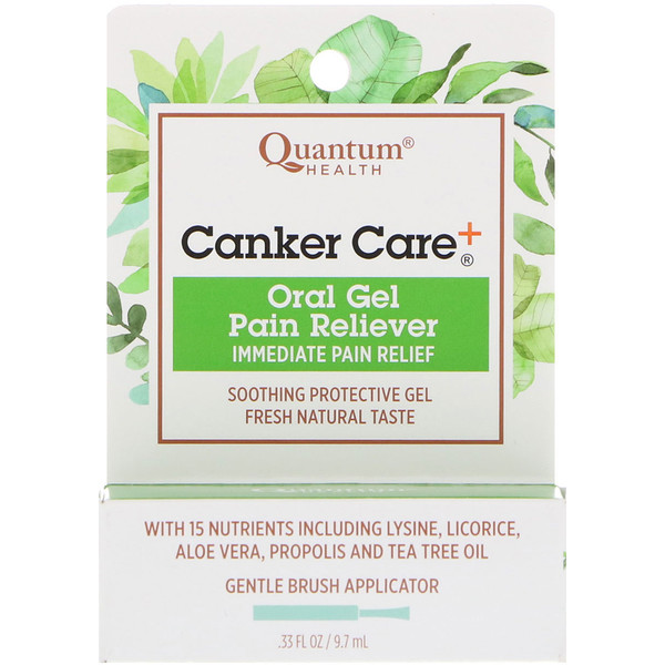 Canker Care+, Oral Gel Pain Reliever, .33 fl oz (9.7 ml)