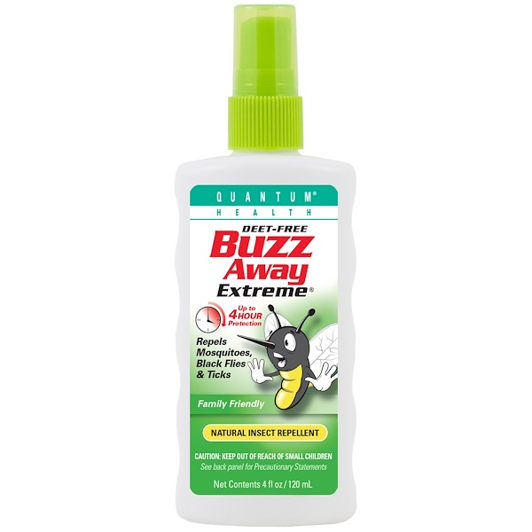 Quantum Health, Buzz Away Extreme, Natural Insect Repellent, 4 fl oz (120 ml) (Discontinued Item)