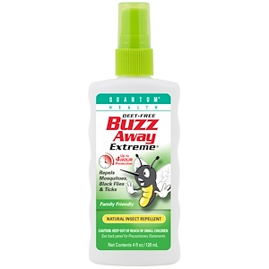 Кванту Хелс, Buzz Away Extreme, Natural Insect Repellent, 4 fl oz (120 ml) отзывы
