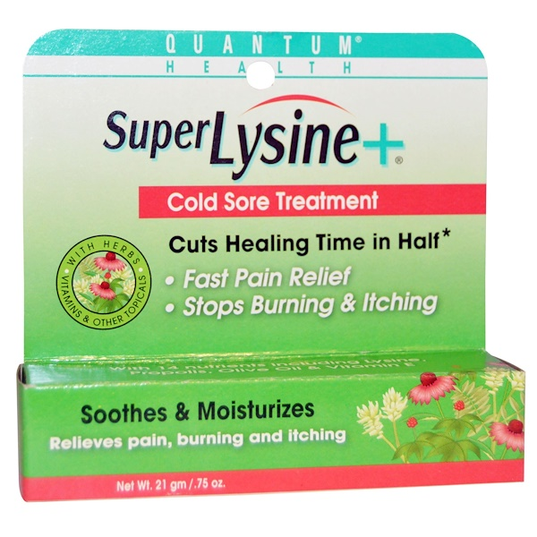 Quantum Health, Super Lysine + Cold Sore Treatment, .75 oz (21 g)