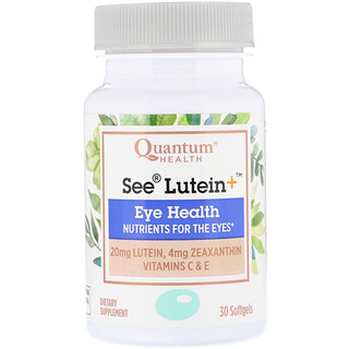 Quantum Health, See Lutein+, Eye Health, 30 Softgels