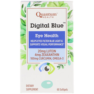 Quantum Health, Digital Blue, Eye Health, 60 Softgels
