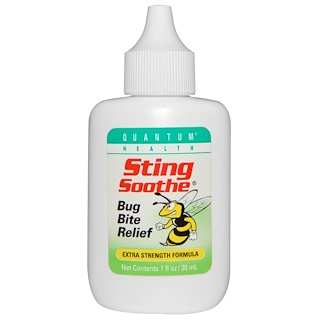 Quantum Health, Sting Soothe, Bug Bite Relief, Extra Strength Formula, 1 oz (30 ml)