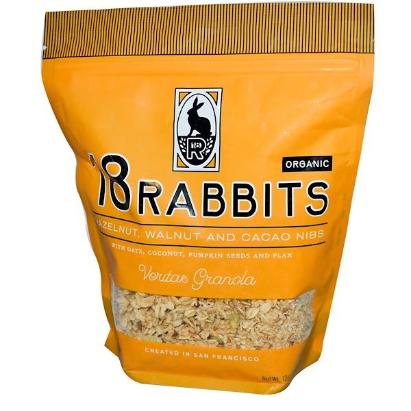 18 Rabbits, Organic, Veritas Granola, Hazelnut, Walnut and Cacao Nibs, 12 oz (340 g) (Discontinued Item)