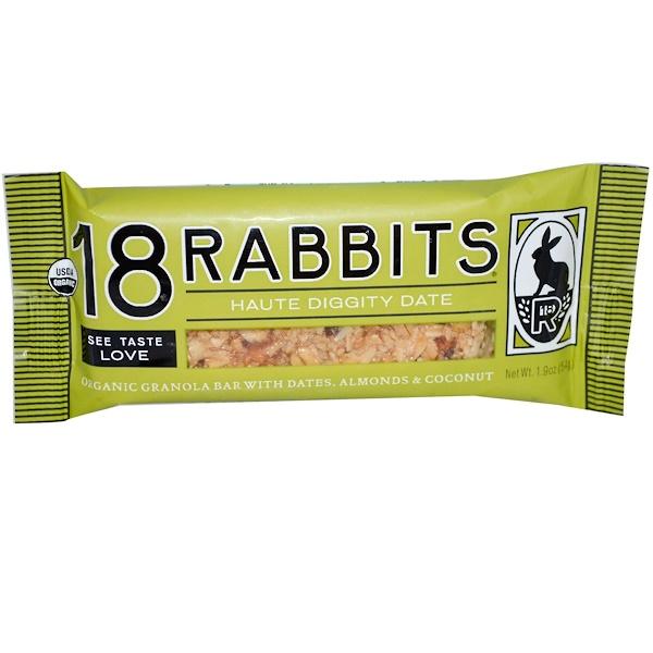 18 Rabbits, Organic, Granola Bar, Haute Diggity Date, 1.9 oz (54g)  (Discontinued Item)