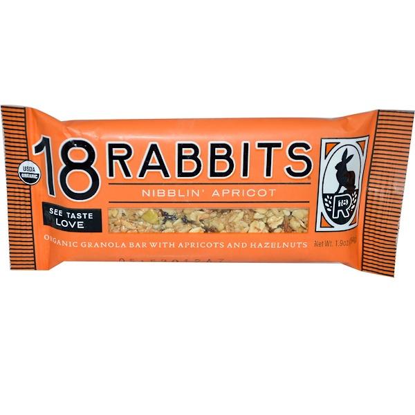 18 Rabbits, Органический бар гранола, Абрикос 1.9 унции (54 г) (Discontinued Item)