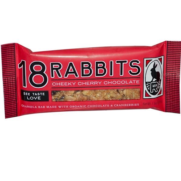 18 Rabbits, Батончики из Гранолы, Вишня и Шоколад 1.9 унции (54 г) (Discontinued Item)