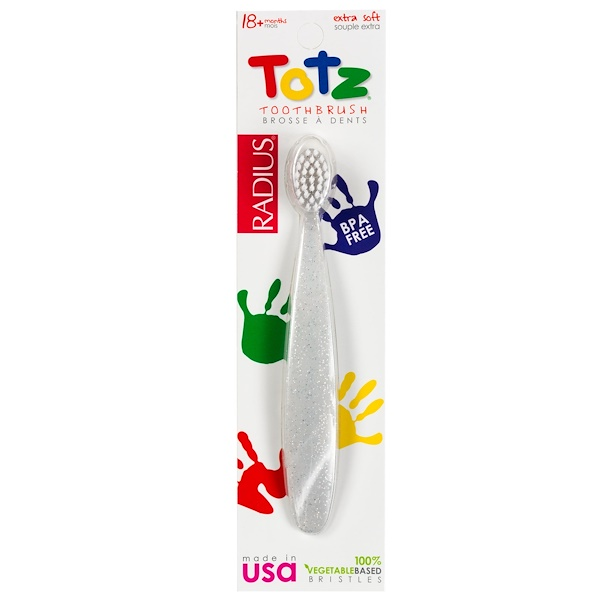 RADIUS, Totz Toothbrush, 18 + Months, Extra Soft, Clear Sparkle (Discontinued Item)