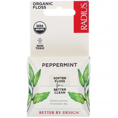 Organic Peppermint Floss, 55 yds (50 m)