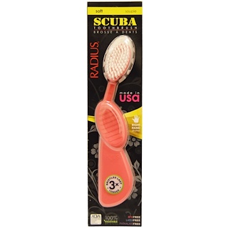 RADIUS, SCUBA Toothbrush, Pink, Soft, Right Hand, 1 Toothbrush