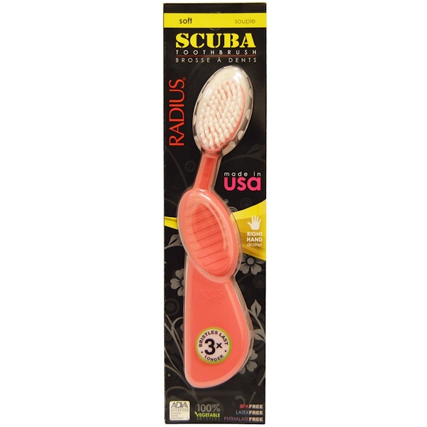 SCUBA Toothbrush, Pink, Soft, Right Hand, 1 Toothbrush