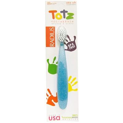 Зубная щетка для малышей от 18 месяцев, сверхмягкая, голубой блеск  - купить со скидкой