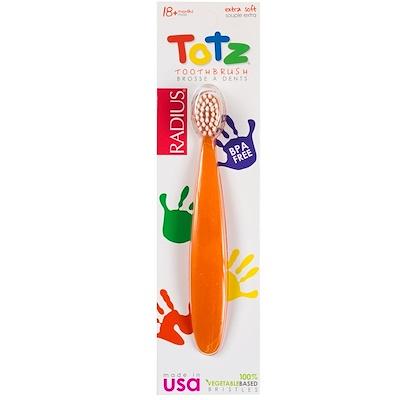 Купить Зубная щетка для малышей от 18 месяцев, сверхмягкая, оранжевое сияние