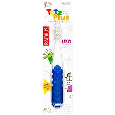 Зубная щетка Totz Plus для детей от 3 лет, белая/синяя, 1 шт.