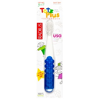 RADIUS, Totz Plus Toothbrush, 3+ Years, White/Blue, 1 Toothbrush