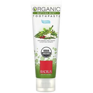 Радиус, Organic Gel Toothpaste, Matcha Mint, 3 oz (85 g) отзывы покупателей