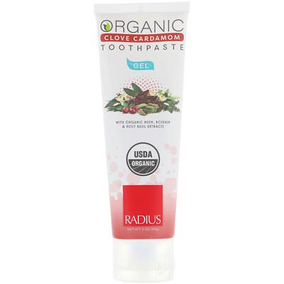 Купить RADIUS Органическая зубная паста-гель, гвоздика и кардамон, 3 унц. (85 г)