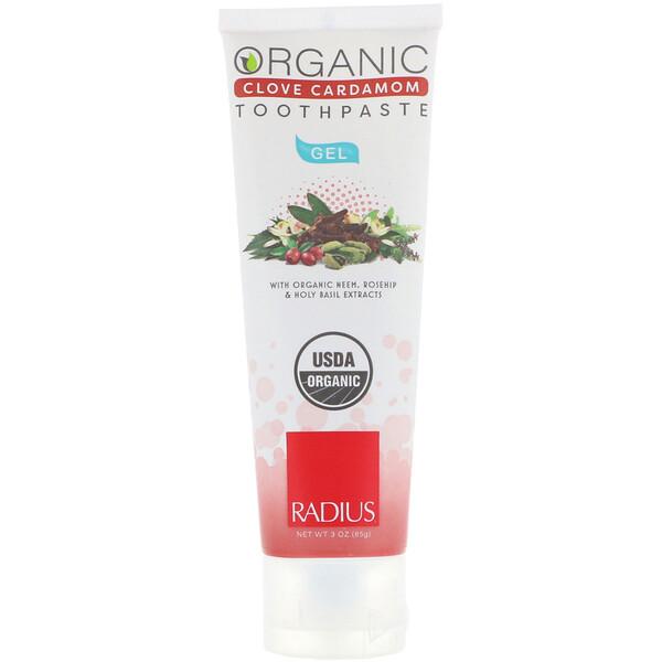 Organic Gel Toothpaste, Clove Cardamom, 3 oz (85 g)